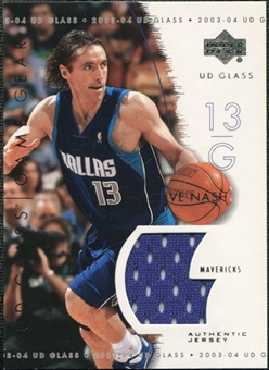 2003/04 Upper Deck UD Glass Game Gear #GGSN Steve Nash