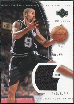 2003/04 Upper Deck UD Glass Game Gear #GGTP Tony Parker