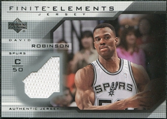 2003/04 Upper Deck Finite Elements Jerseys #FJ14 David Robinson