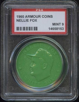 1960 Armour Coin Nellie Fox Green PSA 9 (MINT) *8153