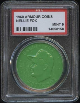 1960 Armour Coin Nellie Fox Green PSA 9 (MINT) *8158