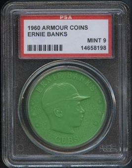 1960 Armour Coin Ernie Banks Green PSA 9 (MINT) *8198