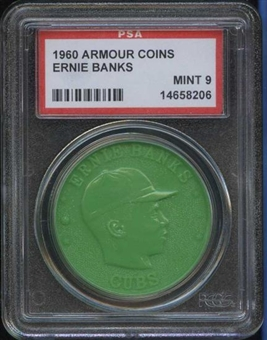 1960 Armour Coin Ernie Banks Green PSA 9 (MINT) *8206