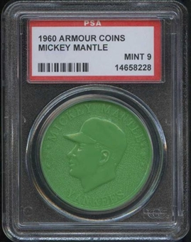 1960 Armour Coin Mickey Mantle Green PSA 9 (MINT) *8228