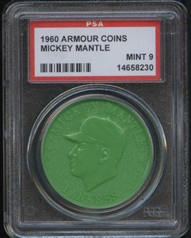 1960 Armour Coin Mickey Mantle Green PSA 9 (MINT) *8230