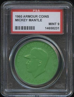 1960 Armour Coin Mickey Mantle Green PSA 9 (MINT) *8231