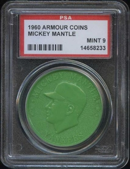 1960 Armour Coin Mickey Mantle Green PSA 9 (MINT) *8233