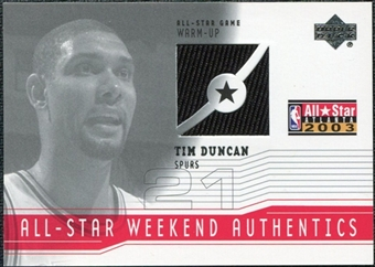 2003/04 Upper Deck All-Star Weekend Authentics #ASTD Tim Duncan