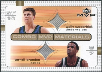 2003/04 Upper Deck Combo Materials #WSTB Wally Szczerbiak Terrell Brandon