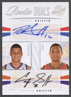 2009/10 Panini Season Update #8 Blake Griffin & Taylor Griffin Rookie Dual Signature Auto #37/49