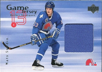 1998/99 Upper Deck Game Jerseys #GJ19 Mats Sundin Blue