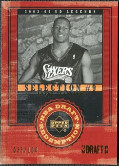 2003/04 Upper Deck Legends Throwback #144 Andre Iguodala /100