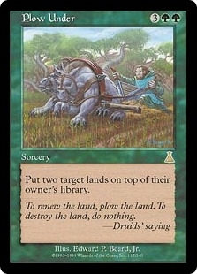 Magic the Gathering Urza's Destiny Single Plow Under - SLIGHT PLAY (SP)