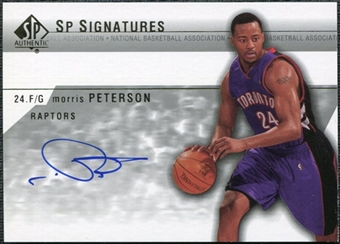 2003/04 Upper Deck SP Authentic Signatures #MOA Morris Peterson Autograph