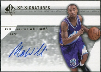 2003/04 Upper Deck SP Authentic Signatures #MWA Maurice Williams Autograph