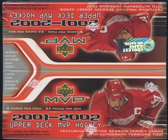2001/02 Upper Deck MVP Hockey 24 Pack Box