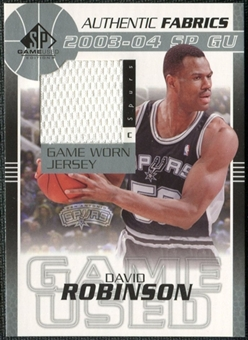 2003/04 Upper Deck SP Game Used Authentic Fabrics #DRJ David Robinson