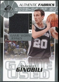 2003/04 Upper Deck SP Game Used Authentic Fabrics #EGJ Manu Ginobili