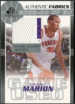 2003/04 Upper Deck SP Game Used Authentic Fabrics #MAJ Shawn Marion
