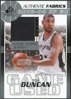 2003/04 Upper Deck SP Game Used Authentic Fabrics #TDJ Tim Duncan