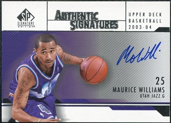 2003/04 Upper Deck SP Signature Edition Signatures #MW Maurice Williams Autograph
