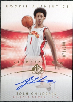 2004/05 Upper Deck SP Authentic Limited #182 Josh Childress Autograph /100