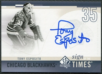 2010/11 Upper Deck SP Authentic Sign of the Times #SOTTE Tony Esposito Autograph