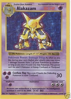 Pokemon Base Set 1 Single Alakazam 1/102 - Shadowless