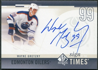 2010/11 Upper Deck SP Authentic Sign of the Times #SOTWG Wayne Gretzky Autograph