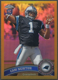 2011 Topps Chrome #1 Cam Newton Gold Refractor #43/50