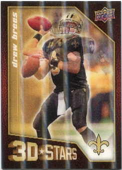 2009 Upper Deck 3D Stars #3D30 Drew Brees