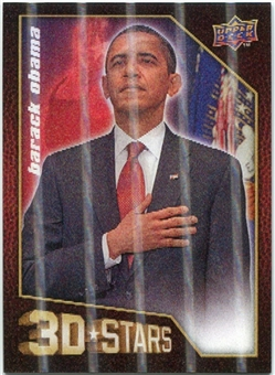 2009 Upper Deck 3D Stars #3D50 Barack Obama