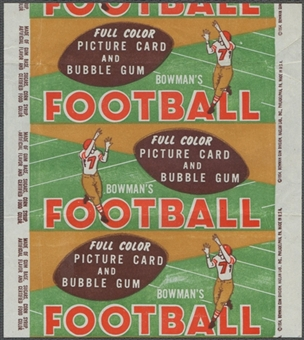 1954 Bowman Football Wrapper (1 cent)
