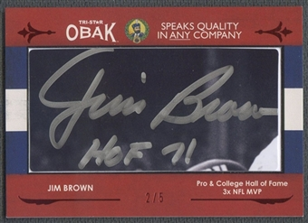 2011 TRISTAR Obak #11 Jim Brown Cut Signatures Auto #2/5