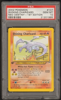 Pokemon Neo Destiny 1st Edition Single Shining Charizard 107/105 - PSA 10