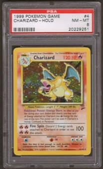 Pokemon Base Set 2 Single Charizard 4/130 - PSA 8