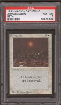 Magic the Gathering Beta Single Armageddon PSA 8