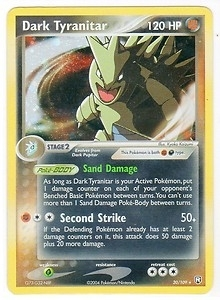 Pokemon Team Rocket Returns Single Dark Tyranitar 20/109