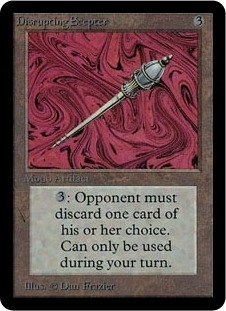 Magic the Gathering Alpha Single Disrupting Scepter - NEAR MINT (NM)