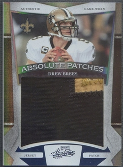 2009 Absolute Memorabilia #11 Drew Brees Absolute Patches Spectrum Prime Patch #05/10