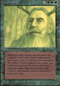 Magic the Gathering Alpha Single Gaea's Liege LIGHT PLAY (NM)
