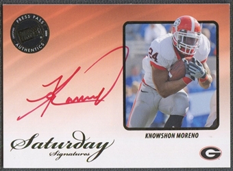 2009 Press Pass Legends #SSKM Knowshon Moreno Saturday Signatures Red Ink Rookie Auto /50