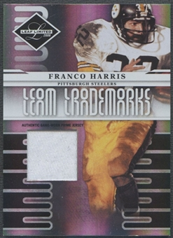 2008 Leaf Limited #13 Franco Harris Team Trademarks Materials Prime Patch #09/30