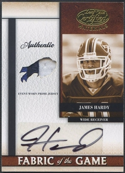 2008 Leaf Certified Materials #12 James Hardy Rookie Fabric of the Game Team Logo Prime Patch Auto #5/5