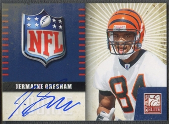 2010 Donruss Elite #18 Jermaine Gresham Rookie NFL Shield Auto
