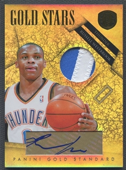 2010/11 Panini Gold Standard #3 Russell Westbrook Gold Stars Materials Signatures Prime Patch Auto #01/10