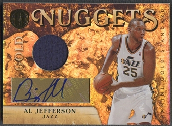 2010/11 Panini Gold Standard #21 Al Jefferson Gold Nuggets Materials Signatures Jersey Auto #11/25