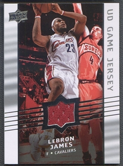 2008/09 Upper Deck #GALJ LeBron James Game Jersey