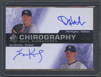 2008 SP Authentic #HK Phil Hughes & Ian Kennedy Chirography Signatures Dual Auto #80/99