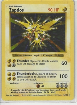Pokemon Base Set 1 Single Zapdos 16/102 - Shadowless